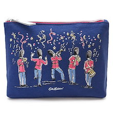 101de0c38d84 キャスキッドソン ウォッシュバッグ 754248/WASHBAG GUARDS AND GUESTS/NAVY Cath Kidston キャンバス  ガード