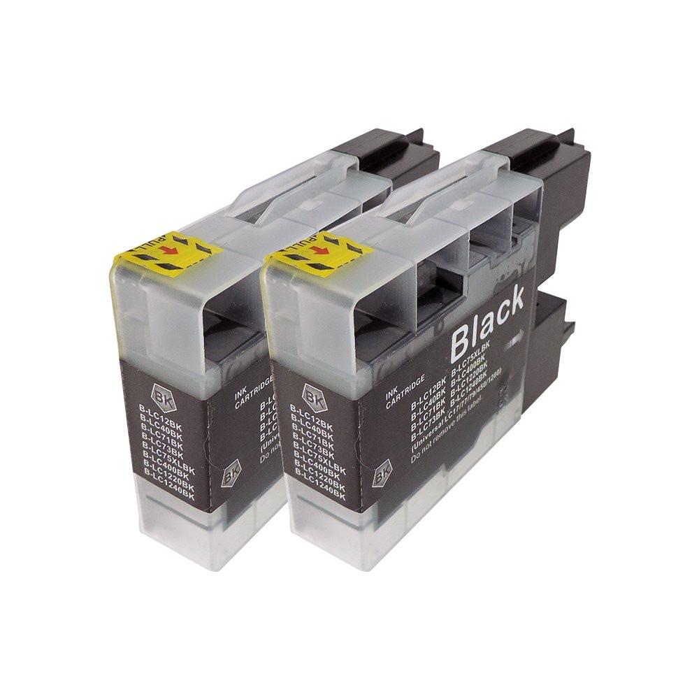 LC12BK(ブラック) 2本セット 互換インクカートリッジ ブラザープリンター