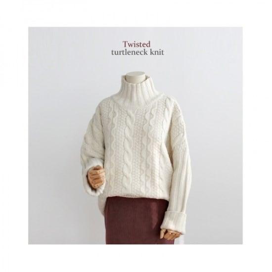 ジェイコムマだ揚げ菓子タートルネックニット ニット/セーター/タートルネック/ポーラーニット/韓国ファッション
