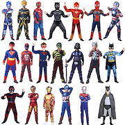03d12618bb1dfb ハロウィン 仮装 子供 スーパーマン バットマン スパイダーマン アイアンマン アメリカ