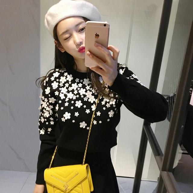 シャー州の花びらニットkorean fashion style