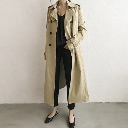Jay Len Long Trench Coat Korean Style