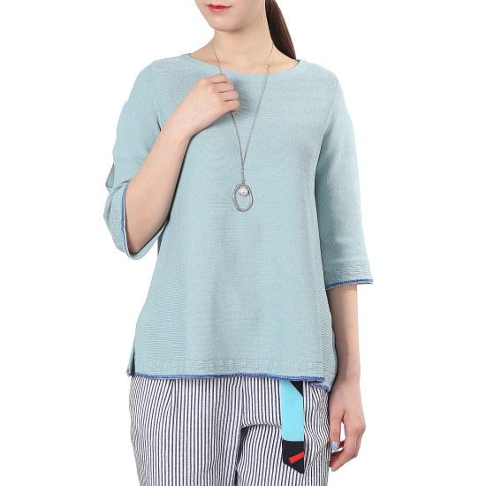 ナイスクルラプネックレスポイントラウンドニートN172KSK015 ニット/セーター/韓国ファッション