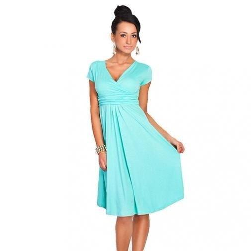 カジュアルな女性の看護妊娠中の夏の快適なマタニティドレスの授乳服