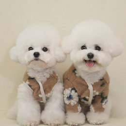 韓国ins ペット用品 犬用 服 寒さ対策 ふんわり ペット服 犬服 可愛い ペットの服 秋と冬服
