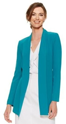 Calvin Klein Womens X-Small Lagoon Open Front Jacket