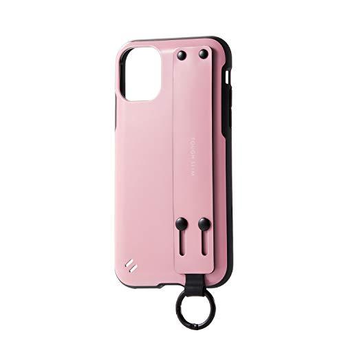 エレコム iPhone 11 ケース 耐衝撃×ハンドベルト TOUGH SLIM [持ちやすく手になじむ] ハンドベルト付 ピンク PM-A19CTSBPN
