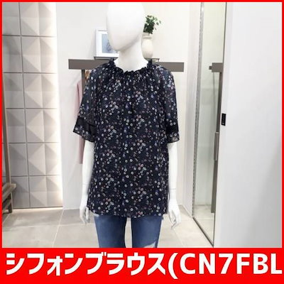 シフォンブラウス(CN7FBL200NY) /シフォン/シースルーブラウス/韓国ファッション