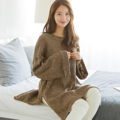 メイシーズルーズフィットスリットOPSワンピースkorean fashion style