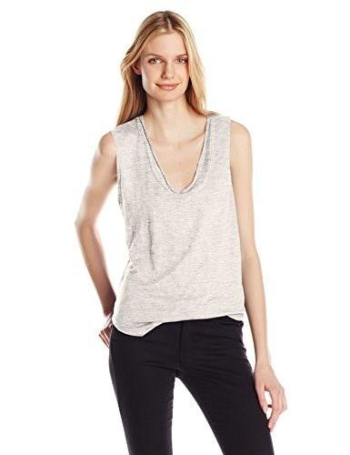 Joes Jeans Womens Linen Jersey Muscle Tee, Sport Heather, Large