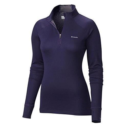 Columbia Womens Heavyweight II Baselayer Long Sleeve Half Zip Shirt, Inkling, M