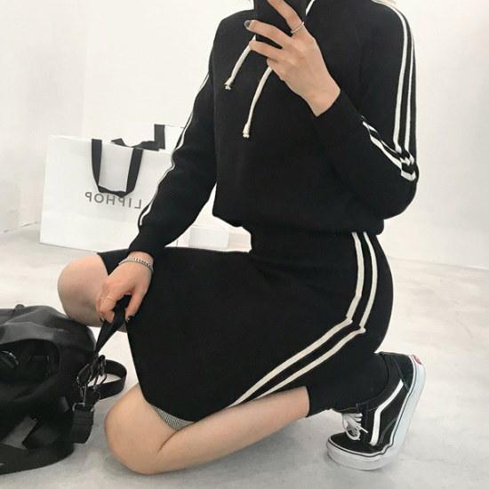 リプハプLIPHOPトリートニットセットニート 綿ワンピース/ 韓国ファッション