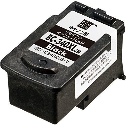 エコリカ キャノン(Canon)対応 リサイクル インクカートリッジ ブラック大容量 BC-340XL (目印:キャノン341) ECI-C340XLB-V