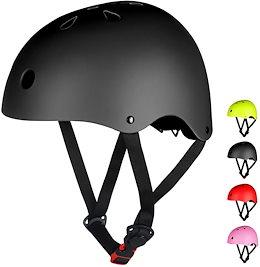 LAMONKE ヘルメット 子供 大人兼用 自転車ヘルメット スポーツヘルメット スケートボード アイススケート サイクリング 通学 スキー バイク 保護用ヘルメット 軽量 通気性 サイズ調整可能 子