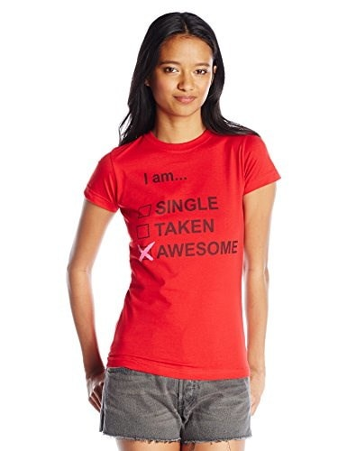 Fifth Sun Juniors I Am Awesome Graphic Tee, Red, Small