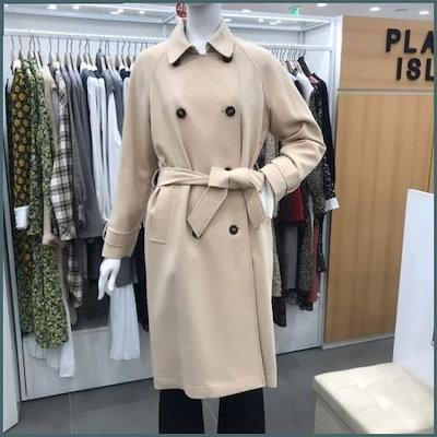 ダブルボタンバーバリ(PJ1EC761) /トレンチコート/コート/韓国ファッション