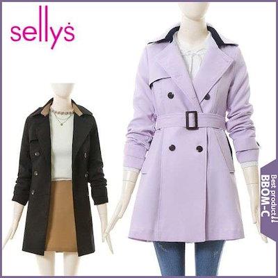 [サリー]配色ライントレンチコートI9A-ICT005 /ロングコート/コート/韓国ファッション