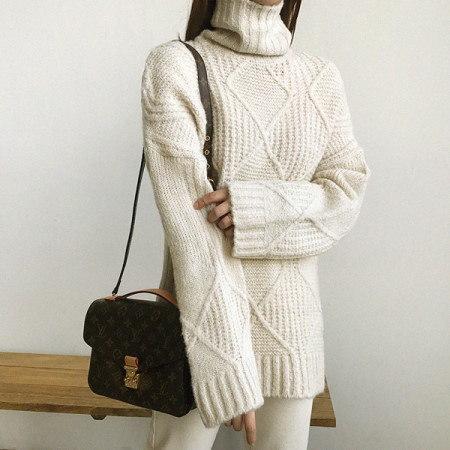 レクルポーラニットKorean fashion style