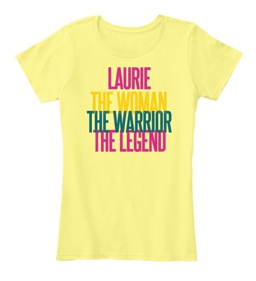 Laurie   The Woman The Warrior Women s Premium Tee
