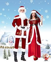 85d2ff905343f レディース 衣装 衣装 ロング ワンピース 長袖 サンタクロースクリスマス コスチューム パーティー 仮装 大人用