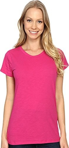 Columbia Womens Everyday Kenzie Crew Neck Tee, Haute Pink, Large