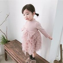 2019子供の赤ちゃんの女の子の弓ノースリーブロンパースの服
