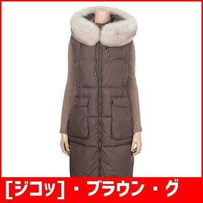 [ジコッ]・ブラウン・グースロングベスト(7218417099) / パディング/ダウンジャンパー/ 韓国ファッション