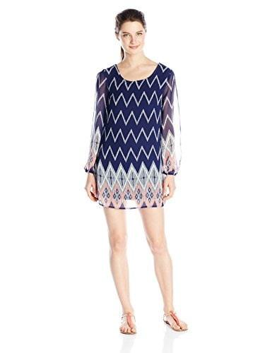 Jolt Womens Printed Shift Dress, Mushroom, Medium