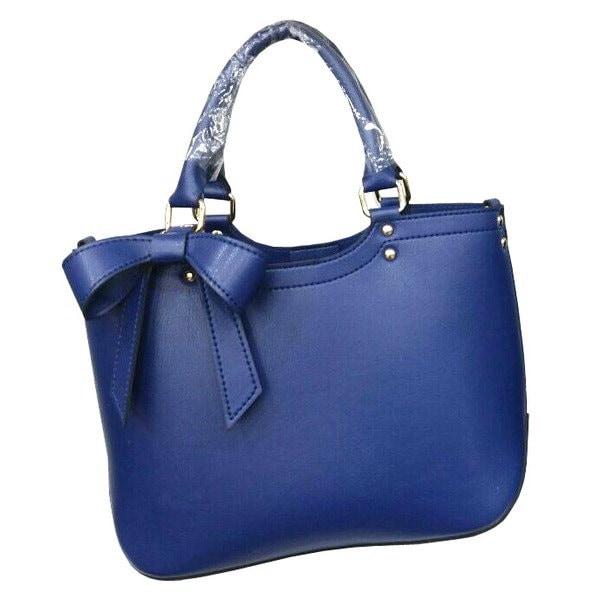 人気商品を改良してデザインされたスクエアリボンチャームバッグ/ブルー
