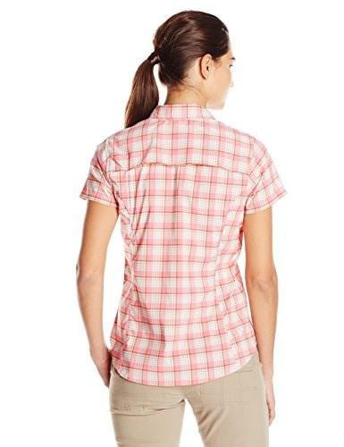 Dickies Womens Performance Woven Vented Shirt, Pink Lemonade/White Gardenia Plaid, X-Large