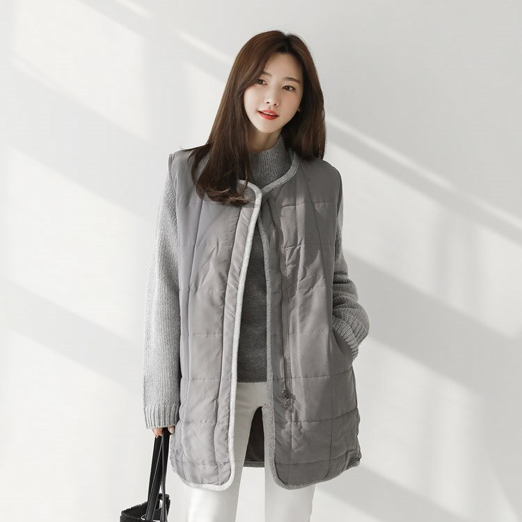 [CHICHERA]★送料無料★韓国ファッションサイトNo.1 /ニットパディングチョッキジャンパー