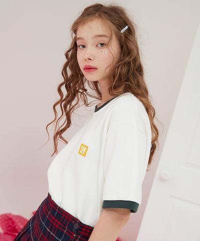 2FLOW韓国ファッションブランド2FLOW公式販売店ASELLER シーズン  2F / LOGO RINGER 1/2 (green)