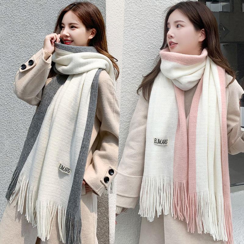 冬の新作! マフラー 大判/ 無地カシミヤマフラー/ 高品質 韓国ファッション マフラー レディース 40*200cm 16colors 柔らかい