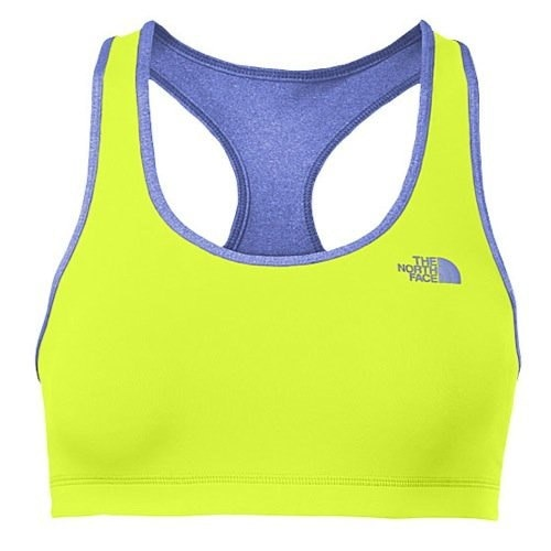 The North Face Bounce-B-Gone Bra Womens Dayglo Yellow/Coastline Blue Heather XS