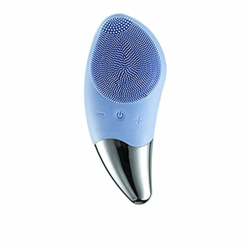 LightningSPT シリコーン洗顔毛穴ケアフェイシャルマッサージフェイスケア電気洗剤 IPX7防水シリコーン素材 新しい (スカイブルー)