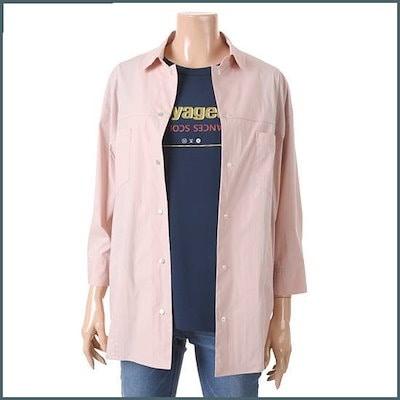 [キー]ジャンパー&南方の二重の効果スネプシャツTUBAE2432 /ルーズフィット/ロングシャツ/ブラウス/ 韓国ファッション