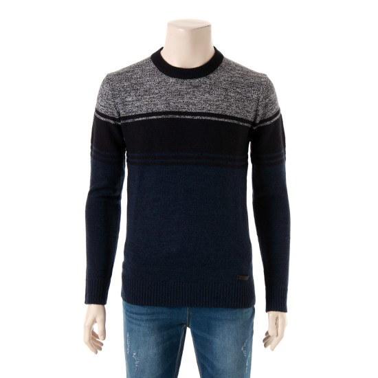 に人ブロックストライプラウンドセーターnnxbrsf8221 ニット/セーター/ニット/韓国ファッション