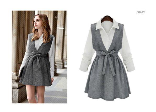 ジャンパースカート&ブラウスセット ドレス ワンピース