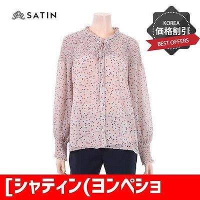 [シャティン(ヨンペション)]オフショルダー・ブラウスS181M205A04 /チェックシャツ/ブラウス/韓国ファッション