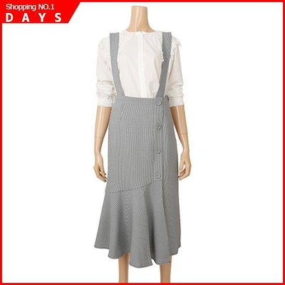 [バンエイク]高チェックサスペンダースカート(VA93OPMD08AC) /スカート/しわ/プリーツスカート/ 韓国ファッション