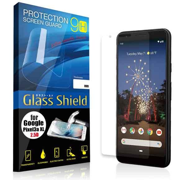 液晶保護フィルム Google Pixel 3a XL 2.5D 9H 指紋防止(全透明) ガラスフィルム 強化ガラス グーグル ピクセル スリー エー エックスエル