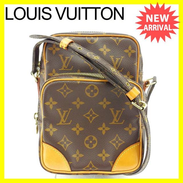 ルイヴィトン Louis Vuitton ショルダーバッグ 斜めがけショルダー メンズ可 アマゾン モノグラム M45236 ブラウン モノグラムキャンバス (あす楽対応)良品 セール【中古】 Y37
