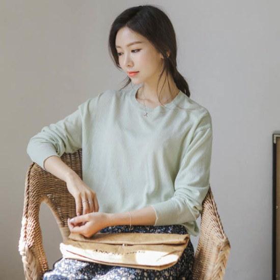 ジャストウォンシロフォンの側面ニット ニット/セーター/ニット/韓国ファッション