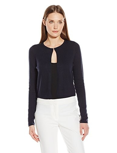T Tahari Womens Avital Sweater, Navy, Small