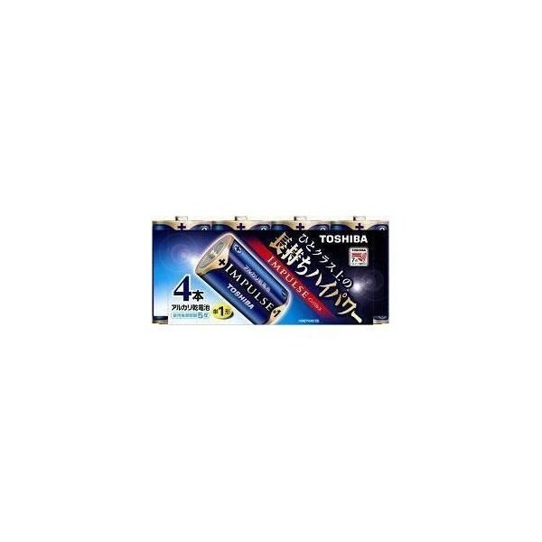 インパルス アルカリ乾電池 単1形 4本パック LR20H 4MP