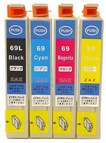 IC4CL69 4色セット EPSON 互換インク ICチップ付き残量表示可能 対応機種 PX-045A PX-046A PX-105 PX-405A PX-435A PX-436A