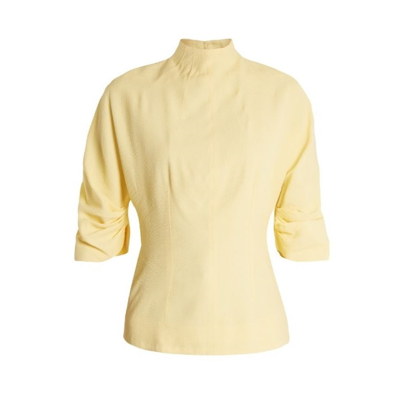 エミリア ウィックステッド レディース トップス【Cut-out back high-neck top】Banana-yellow