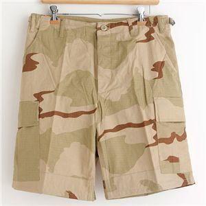 アメリカ軍 BDU カーゴショートパンツ /迷彩服パンツ 【 Sサイズ 】 リップストップ 3カラーデザート 【 レプリカ 】  ds-1668092