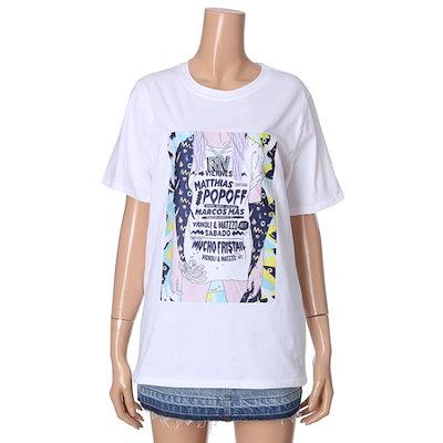 ・ビジット・インニューヨークプリント半袖ティーシャツVT6ST5L プリント/キャラクターシャツ / 韓国ファッション