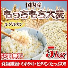 もっちもち大麦 5kg 30年岡山県産 送料無料 <たっぷり大容量5kgでお値打ちセール>